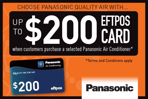 EFPOS Card offer from Panasonic. Up to $200